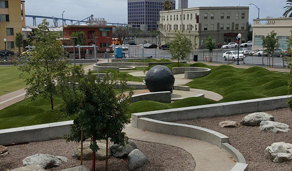 East Village Fault Line Park In Downtown San Diego